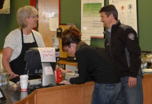 Sarah and Todd at Starbucks
