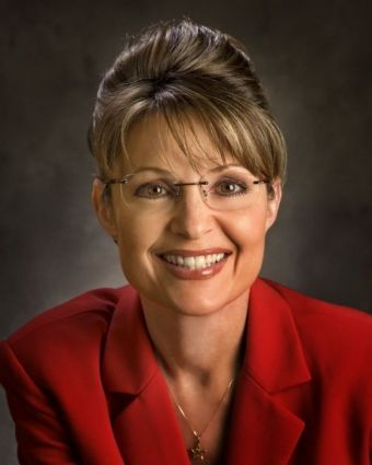 Alaska Gov. Sarah Palin's state website photograph