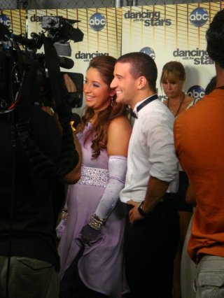 Bristol and Mark at Interviews after DWTS Week 2