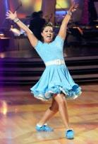 Bristol doing the jiveon DWTS in blue Fifties outfit