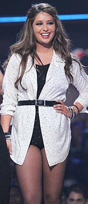 Bristol in white oversized shirt dress on DWTS