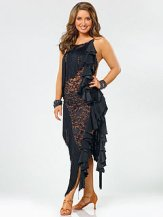 Bristol posing in black lace DWTS outfit
