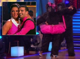 Closeup of Bristol and Mark - Week 5 of DWTS