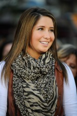 Closeup of Bristol in Brown and Beige Scarf Smiling