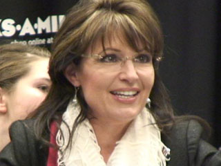 Closeup of Sarah at Columbia SC book signing