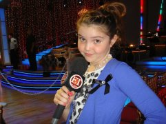 Cute Photo of Piper Holding ET Mike at DWTS - Week 2
