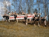Dance Bristol Dance Sign and Sonjas Studio Dancers in Wasilla
