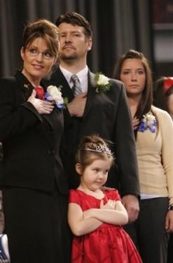 Family Photo - Saying Pledge at Gubernatorial Inauguration