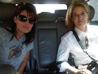 Greta and Sarah on the way to Haiti