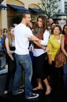 Mark and Bristol Dancing - Demonstating Steps for Mario Lopez