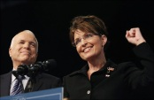 Palin and McCain - Flag Pin