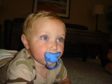 Photo of Tripp with Pacifier at DWTS
