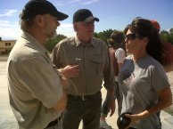 Sarah and Graham talk to VP of Projects in Haiti