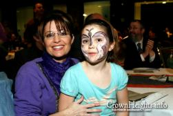 Sarah and Piper with Face Paint at 2009 Chanukah Festival in Alaska