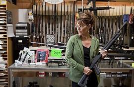 Sarah buys a hunting rifle
