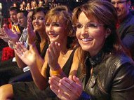 Sarah in audience at DWTS