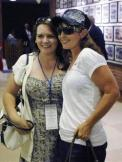 Sarah in White T-Shirt at Belmont Park