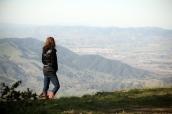 Sarah looking out over canyon at Reagan Ranch
