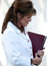Sarah Praying at Restoring Honor Rally