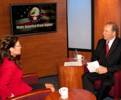 Sarah prepares for interview with Michael Reagan
