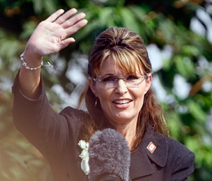 Sarah Waving at Farewell Address