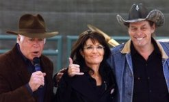 Sarah with Raese and Nugent at Charleston Rally