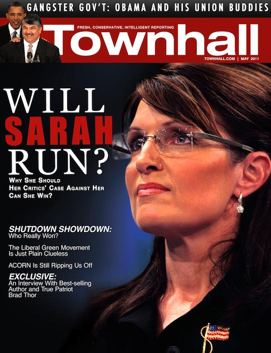 sarah palin newsweek magazine cover. Townhall Magazine Cover Story: