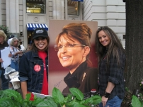 912 March - Two Women Holding Sarah Palin Poster