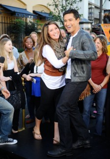 Bristol and Mario Lopez - dancing and laughing