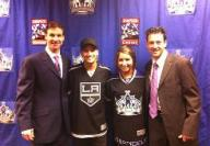 Bristol and Mark at Los Angeles Kings Game - Early Birthday Present