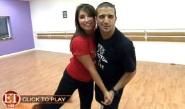 Bristol and Mark Rehearsing Quick Step