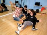 Bristol and Mark relaxing in rehearsal studio