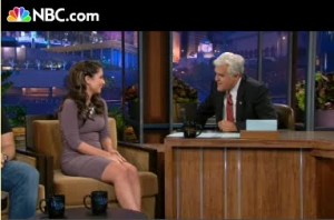 Bristol talking to Jay Leno on Tonight Show