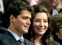 Closeup of Bristol and Levi at RNC Convention 2008