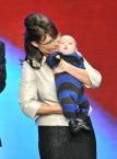 Closeup of Sarah and Trig at RNC Convention - Sarah lips pursed
