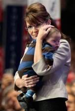 Closeup of Sarah and Trig at RNC Convention - Sarah pensive
