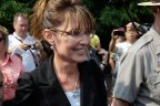 Closeup of Sarah during visit to Statue of Libery - wearing Star of David necklace