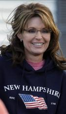 Closeup of Sarah in New Hampshire Sweatshirt