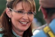 Closeup of Sarah in turqoise blouse at Governors Picnic