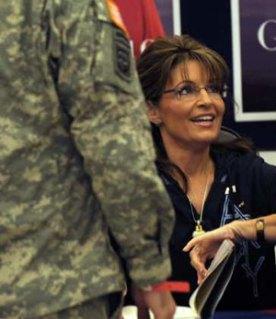 Closeup of Sarah Signing Her Book at Fort Bragg