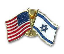 Israeli-American Flags Pin
