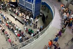 Looking down at Palin book signing at MOA from balcony - June 29 2011