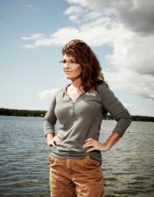 Newsweek Photo Shoot - Sarah standing on dock at Lake Lucille