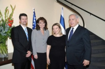 Official Photo of Palins and Netanyahus