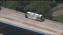 One Nation Bus on Overpass in Philly