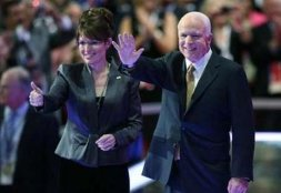 Palin and McCain - Dark Green Jacket and Thumbs Up