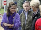 Palin and Parnell and staffer at Anchorage picnic