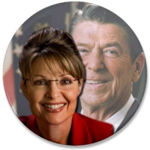 Palin and Reagan Button