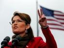 Palin making Victory symbol