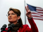 Palin making Victory symbol